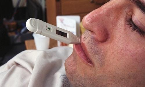 Измерения температуры можно проводить во рту