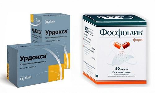 Препараты Урдокса и Фосфоглив оказывают комплексное воздействие на желчевыделительную систему